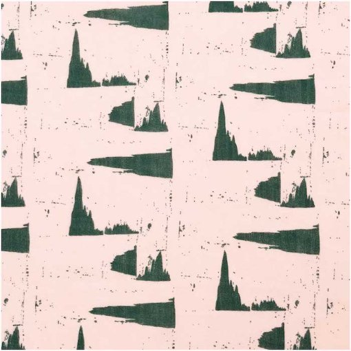 Rico Design Nature Matters Printed Cotton Powder and Green