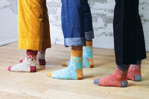 MODELING socks Moon and Turtle - Kiyomi & Sachiko Burgin