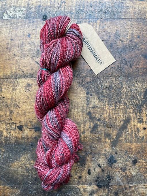 Craftmangler hand spun yarn red square