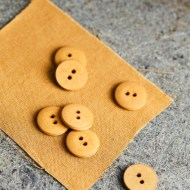 mind the maker curb cotton 18cm buttons dry mustard