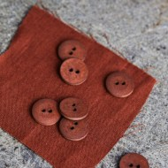 mind the MAKER curb cotton buttons sienna