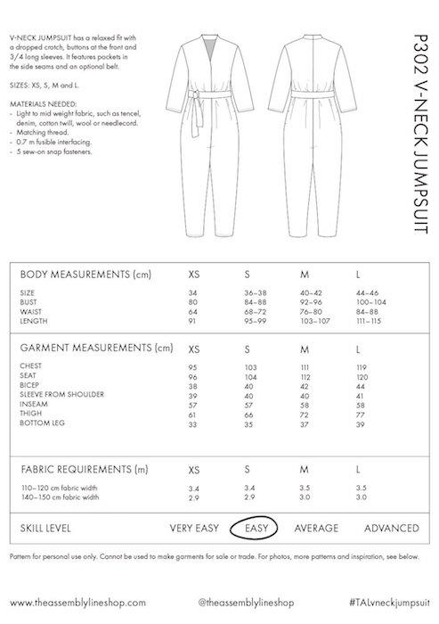 TAL V neck jumpsuit P302