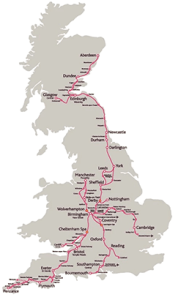 Explore the UK by Rail with our Route Map   CrossCountry CrossCountry route map