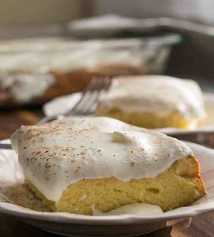 Egg Nog Tres Leches Cake