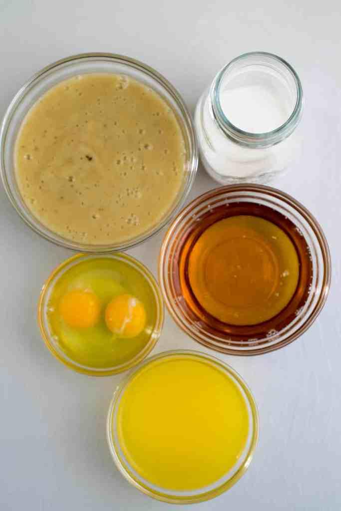 Banana Protein Muffins Wet Ingredients