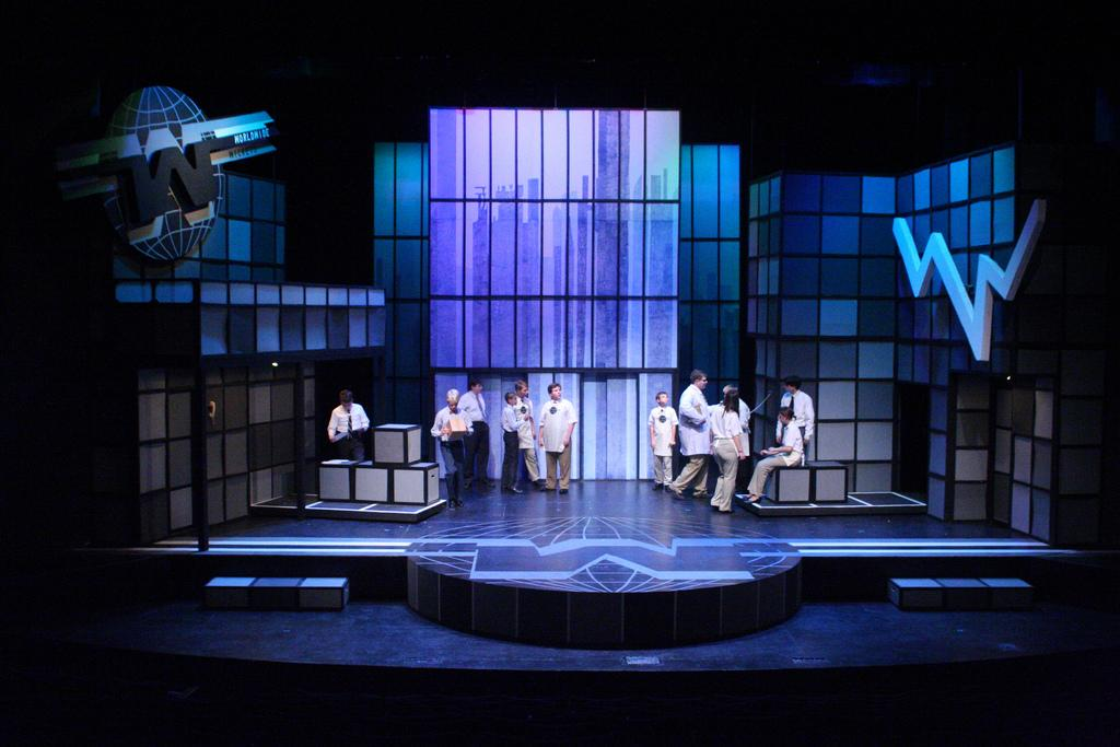 An image from a previous production of How to Succeed in Business Without Really Trying.