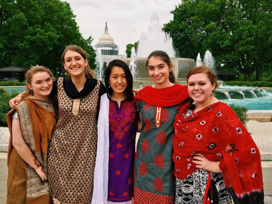 Senior+Kat+Lewis+made+many+friends+during+her+year+abroad+in+India.