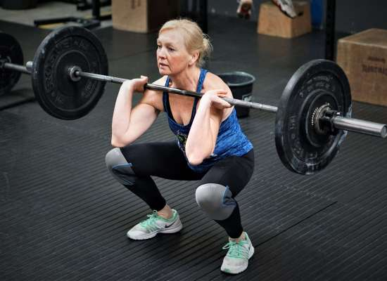 on ramp crossfit front squat