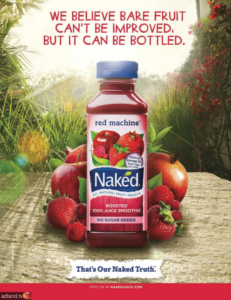 Ads for fruit juice