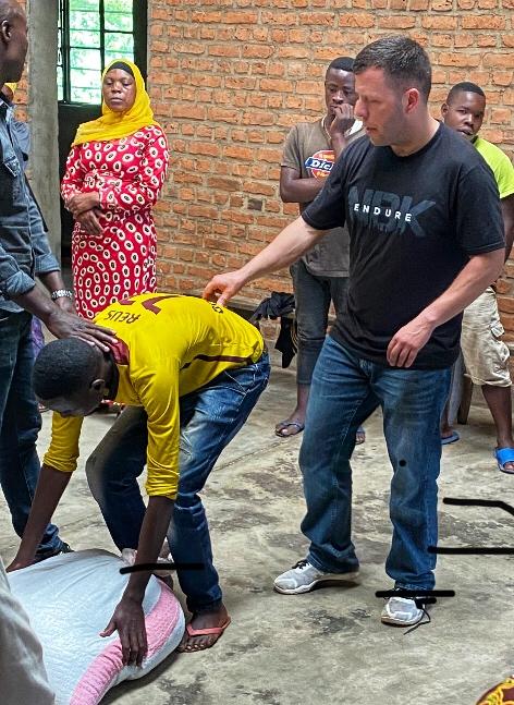 Photo taken in 2020 w/ Coach Jimmy training in Rwanda