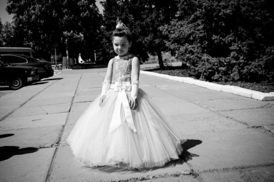 Girl attending a wedding in Rybnitsa, a major town in the break-away republic of Transnistria.