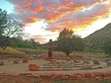 Ancestor Wheel at sunset by Alka Kapoor
