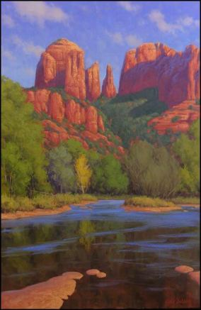 "Painting ""Cathedral Morning"" by Cody DeLong of Jerome, Arizona"
