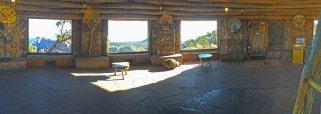 Recently restored main room of the Desert Watchtower. Photo by Sandra Cosentino 2016.