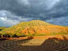 Labyrinth at Angel Valley. We use ceremonial sites and private creek access here for some of our work.