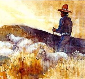 Navajo sheepherder painting