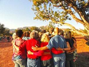 earth-spirit ceremony for solar eclipse, Sedona, Arizona