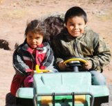 Future Navajo jeep drivers in the making. Love those kids!--photo by Sandra Cosentino