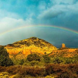 Thunder Mountain rainbow, Sedona