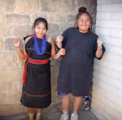 Visiting with friends at Hopi social dance (photo by Sandra Cosentino)