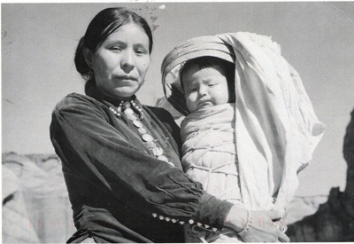 Navajo woman with baby historic photo
