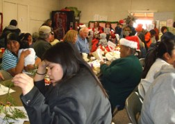 community dinner to which we were welcomed and added gifts and some food