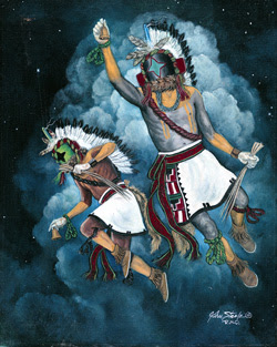 "Painting is ""Starchaser Kachina"" by John Steele"