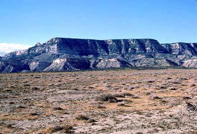 Natural coal seams Black Mesa, Arizona area