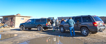 photo by Jackie Klieger - Muddy delivery 2nd Mesa in December