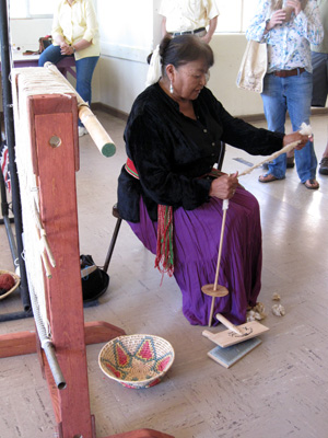 We helped bring a traditional Navajo weaver to one of our events
