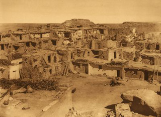 photo of village plaza area taken in 1900