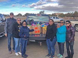 Delivering gifts to Hopi Foster Care December 14