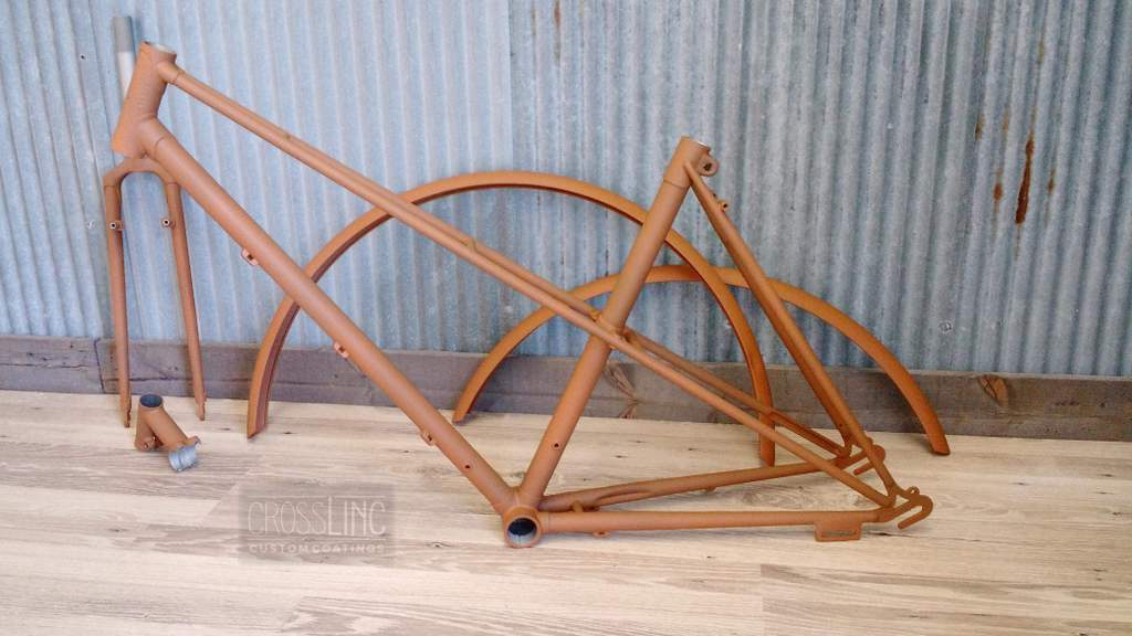 Weathered Rust Bicycle Frame