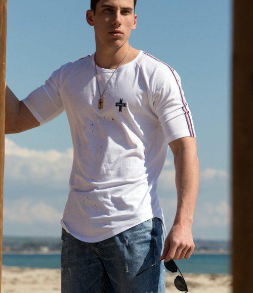 21014 Line T-Shirt White