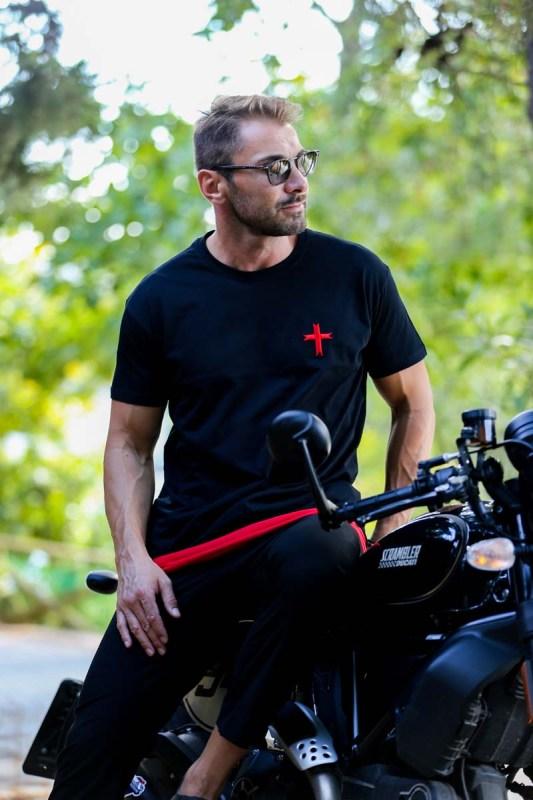 Bellter T-Shirt Black-Red