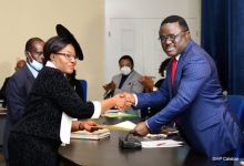 Photo of Ayade swears in Akon Ikpeme as Cross River State Chief judge, charges her on justice to all