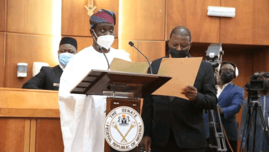 Photo of Jarigbe Agom Jarigbe, takes Oath of Office as Senator, Representing Cross River North Senatorial District in the 9th Assembly