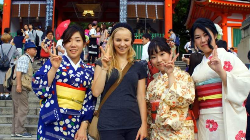 Enjoying the sites in Japan – most likely before a big feed! Japan makes the list too in weirdest breakfasts in asia