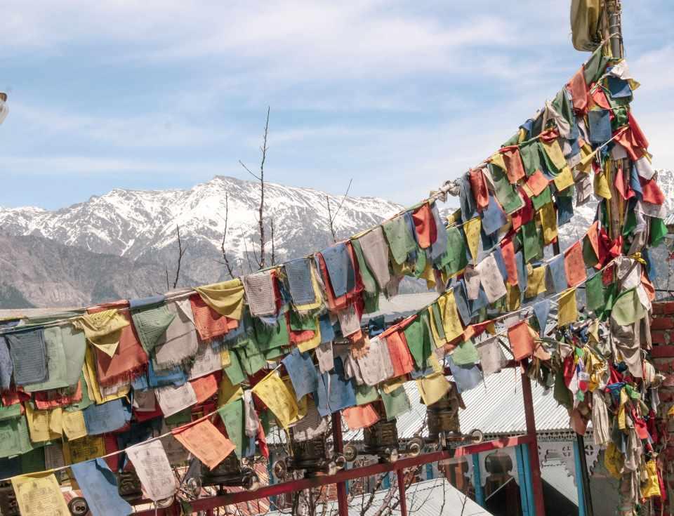 View from Hu-Ba-lan-Kar Monastery in Kalpa Valley