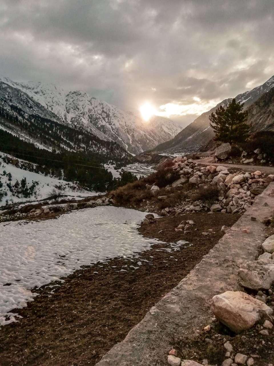 Sunset in Chitkul