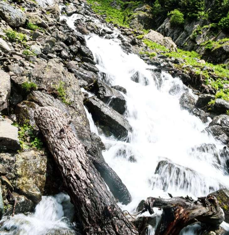 Small Waterfall during trekking in kashmir