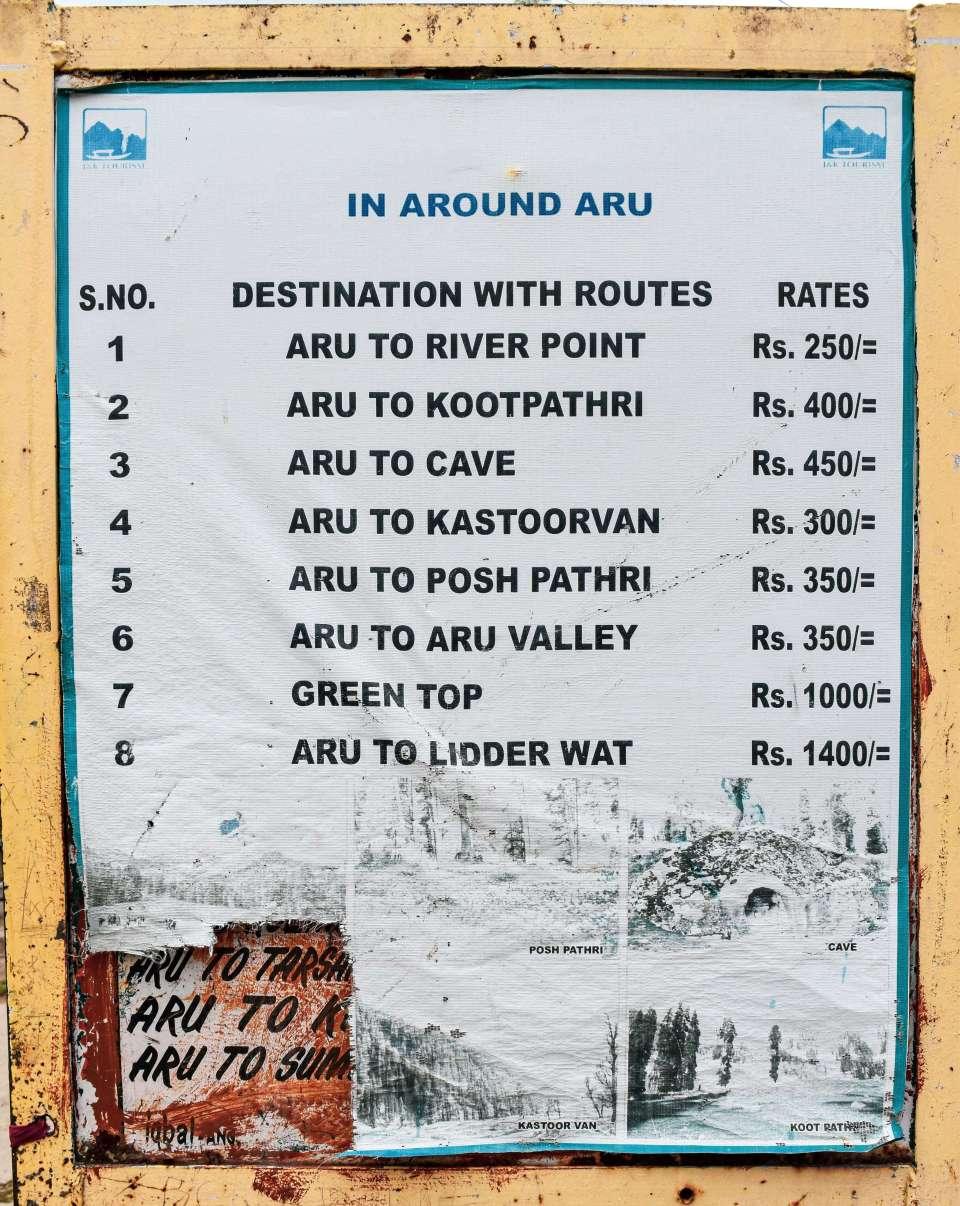 In Around Aru Valley Pahalgam