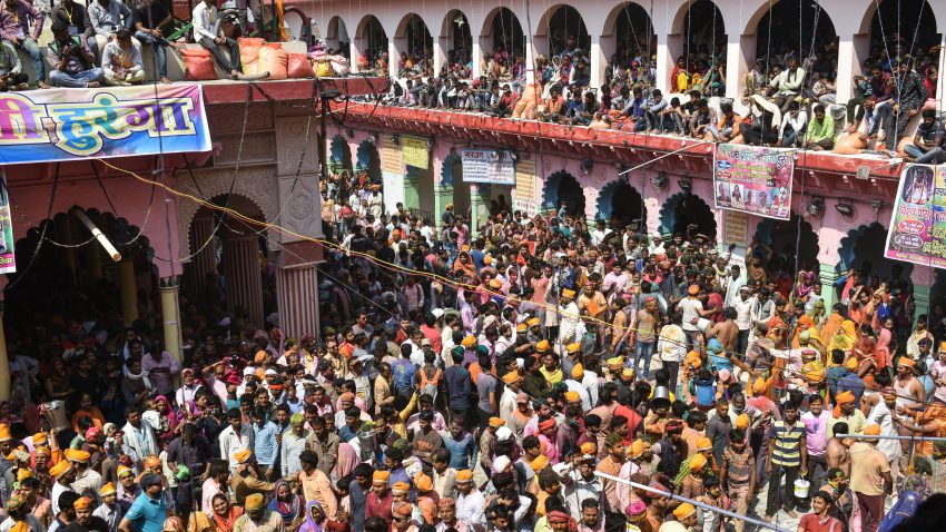Large gathering at Dauji Temple, Badeo