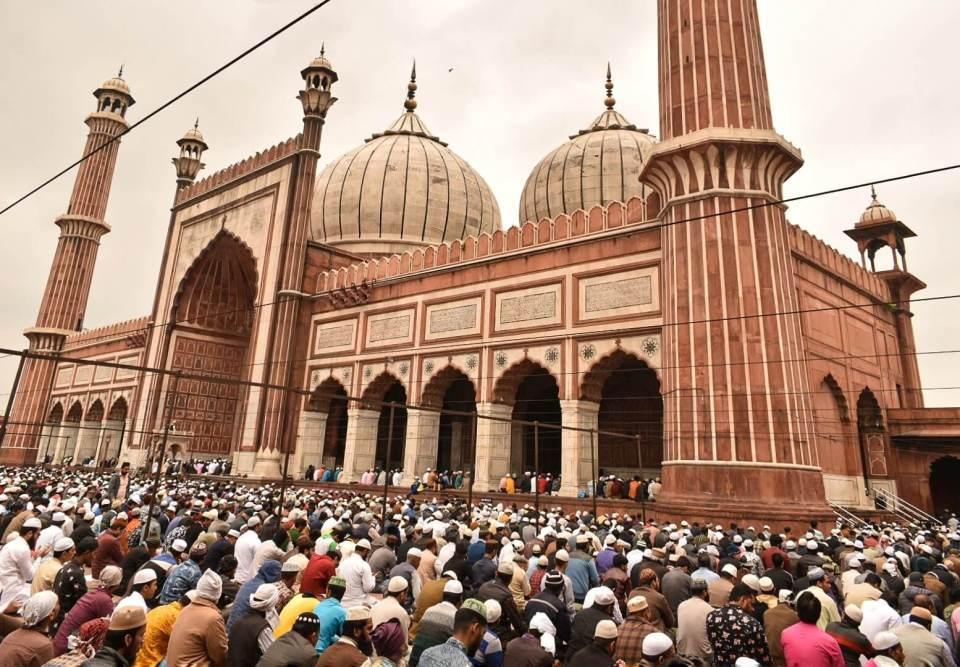 Friday prayer at Delhi ka Jama Masjid Mosque