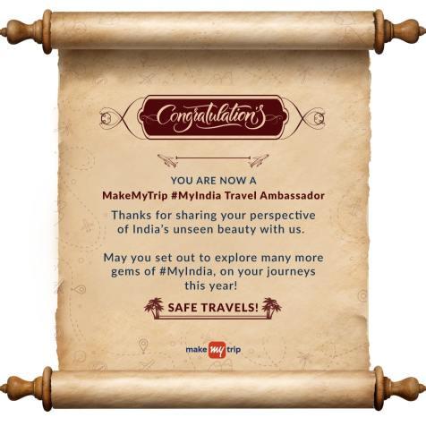 MakeMyTrip Travel Ambassador