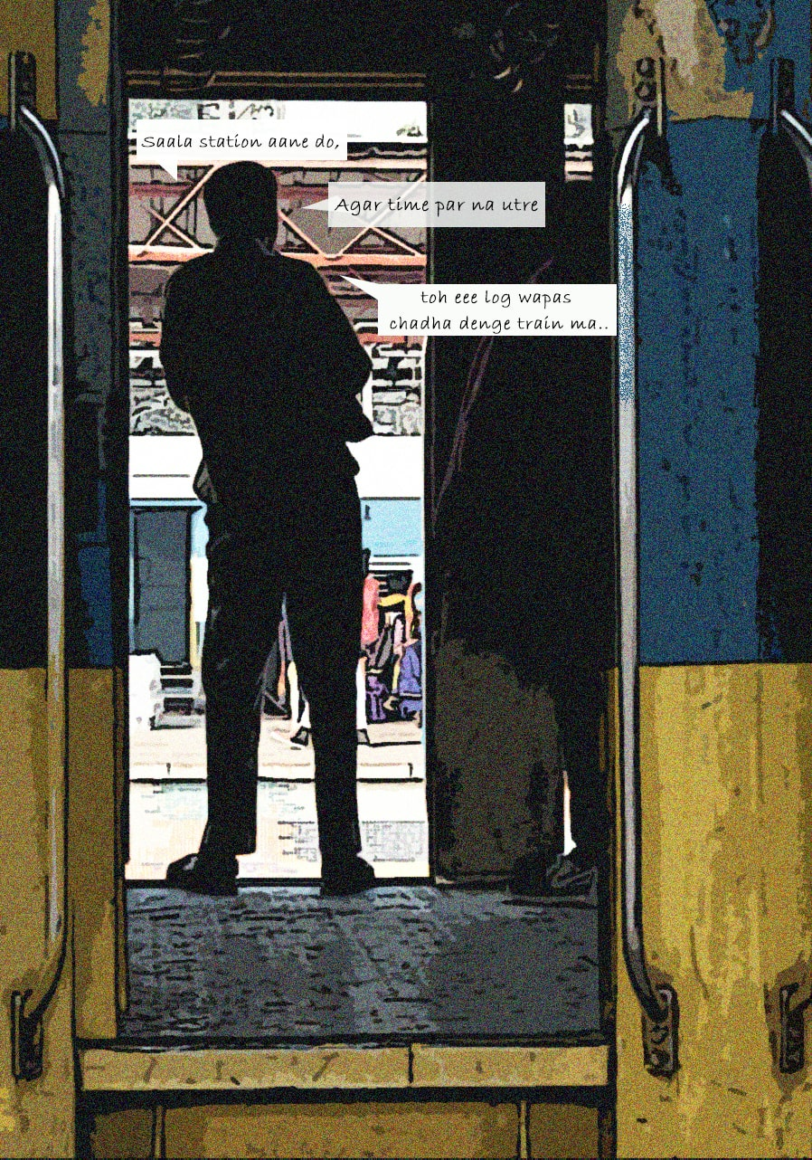 Passengers waiting for the station to arrive