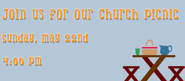 Join us for our annual church picnic