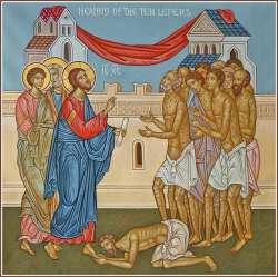 10 ten lepers healing icon - Crossroads Initiative