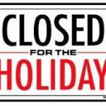 Merry Christmas – Closed Today