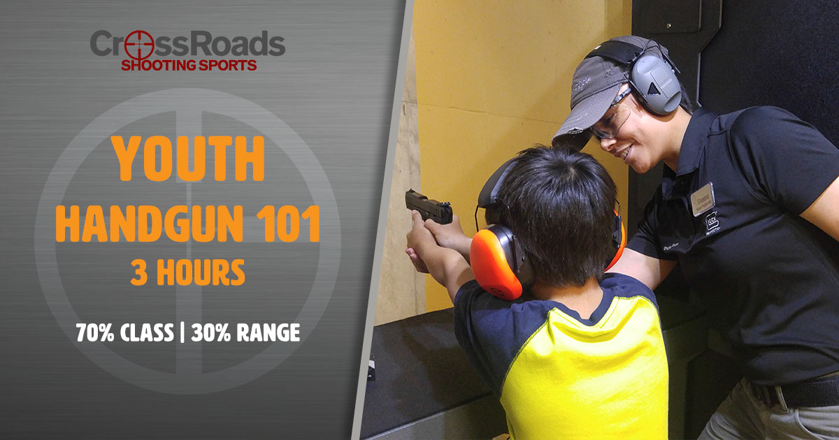 Youth Handgun 101, CrossRoads Shooting Sports, Sheena Green, P3A Training